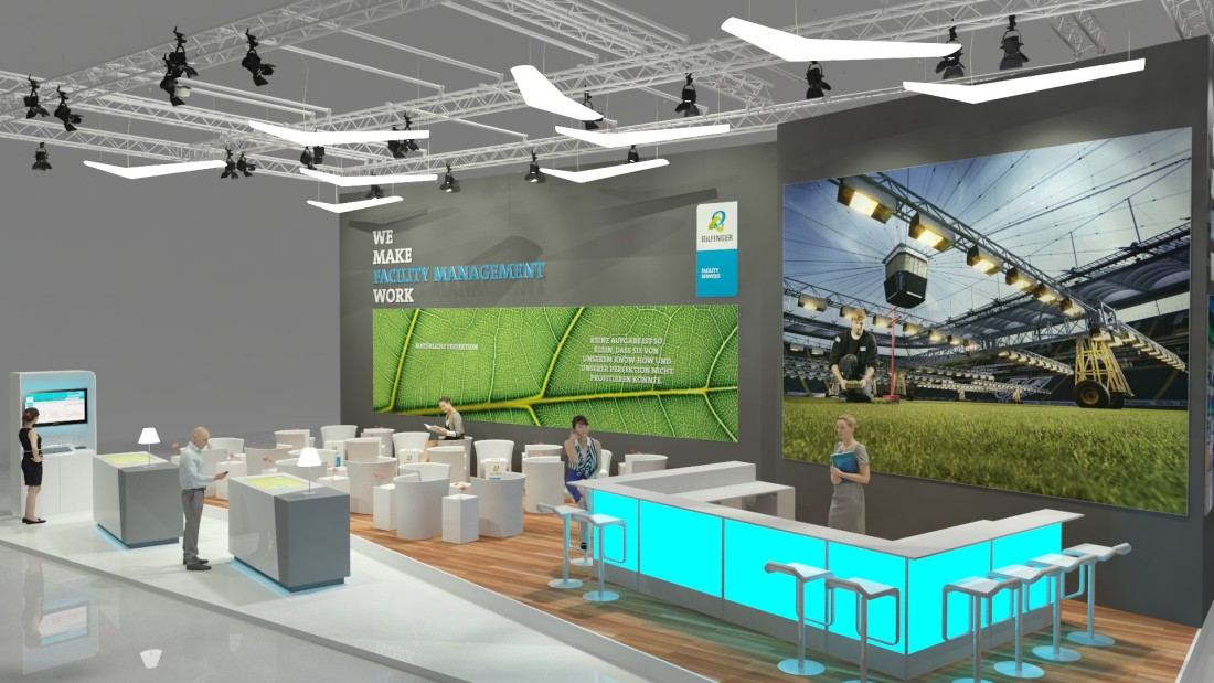 messestand bilfinger hsg facility management facility management messe frankfurt 2015. Black Bedroom Furniture Sets. Home Design Ideas